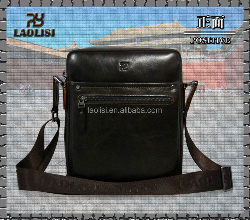 China alibaba manufacturer trendy cool easy carry genuine leather mens shoulderbags