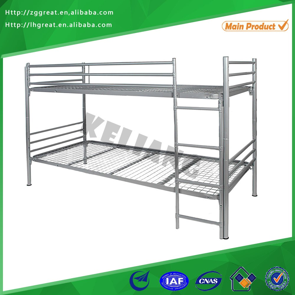dorimotory metal bunk bed/customized double iron bed furniture/dormitory metal bed
