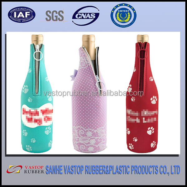 SGS Portable Sublimation Neoprene Bottle Cover of Customized Printing