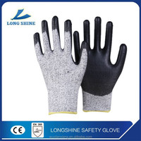 Cut resistant pu coated work glove top quality