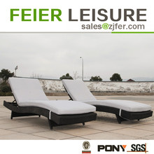 pe rattan sun bed outdoor furniture
