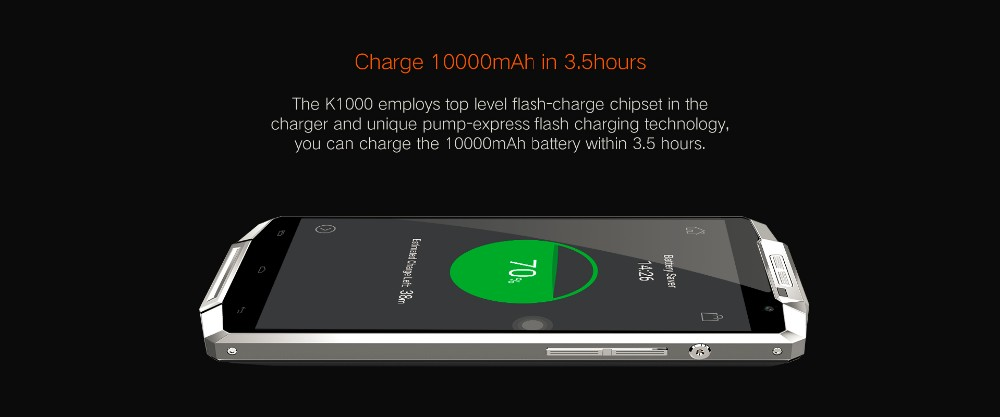 Original Oukitel K10000 5.5inch HD 4G LTE Android 5.1 10000mAh Battery 2GB 16GB MTK6735 64bit Quad Core 13MP Smartphone
