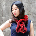 CX-S-83G China Factory Wholesale Knitted Real Mink Fur Scarf For Women