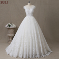 SL-101 Alibaba Sexy Wedding Dress Cap Sleeve Lace Beading Bridal Gown China 2017