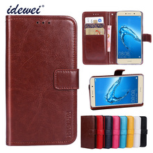 Luxury Flip PU Leather Wallet Mobile phone Cover Case For Huawei Y7 Prime with Card Holder