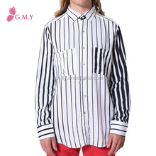 Striped Rayon Long Sleeve Button Up Shirt GMY05704