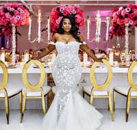 2017 African Luxury Mermaid Plus Size Wedding Dresses For Big Women