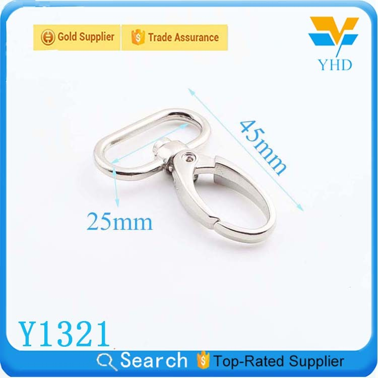 custom zinc alloy swivel lobster clasp snap hook for bag accessories