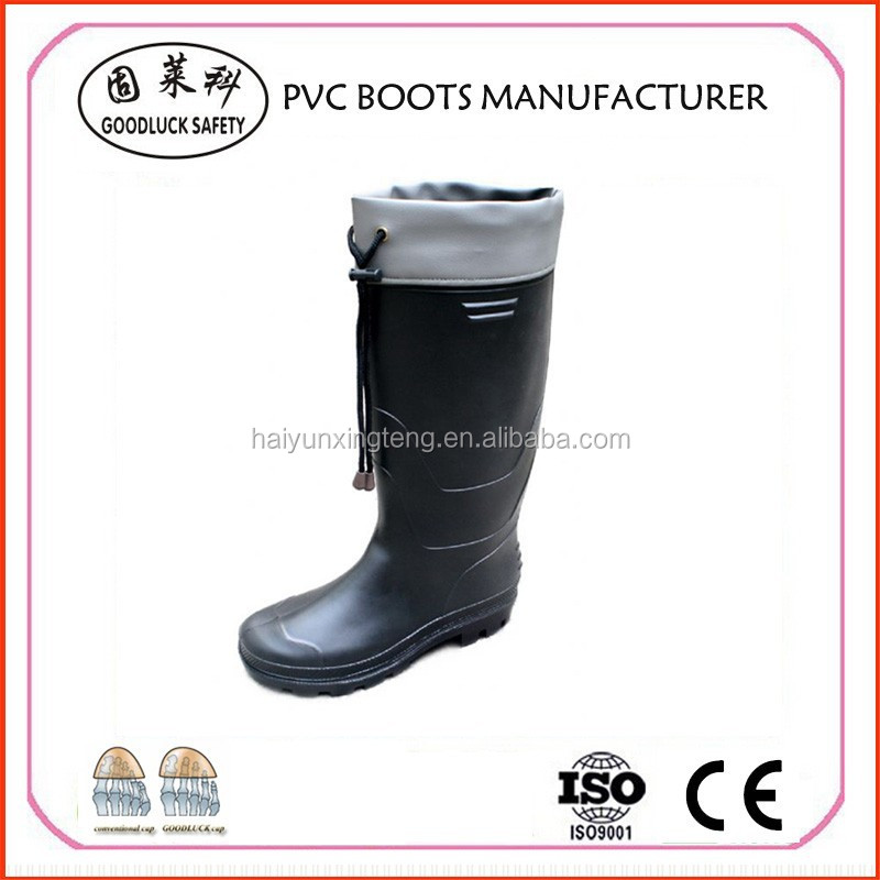 Anti-Static Black PVC Safety Boot Factory