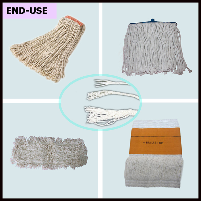 Wholesale white cotton yarn for mops