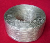 flat braided Copper foil shielding sleeving