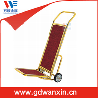 Luxury airport luggage trolley cart , hotel Luggage Trolley For Sale