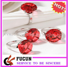 hot sell fancy bulk cheap flower pearl rhinestone napkin rings for weding table decoration