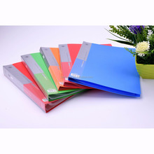 Factory production a4 size clear book 20 pockets file folder