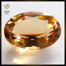 Oval Cut Natural Citrine Gemstones,Natural Yellow Crystal Quartz Stones