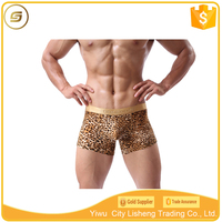Low waist leopard printed sexy gay men underwear