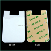 3M Sticker Smart Wallet Mobile Card Holder Custom Personalized Silicone Phone Card Holder