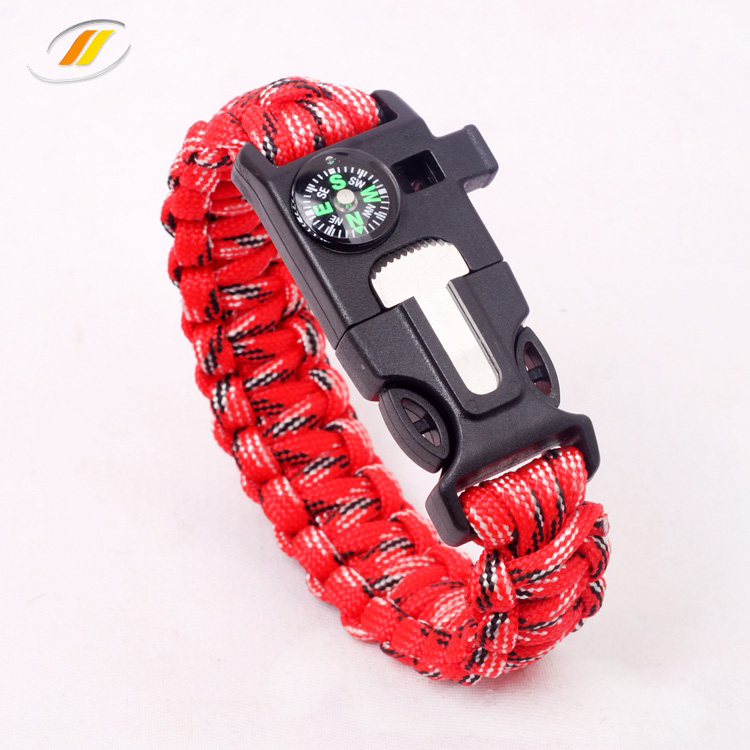 High quality outdoor survival 550 paracord bracelet with logo