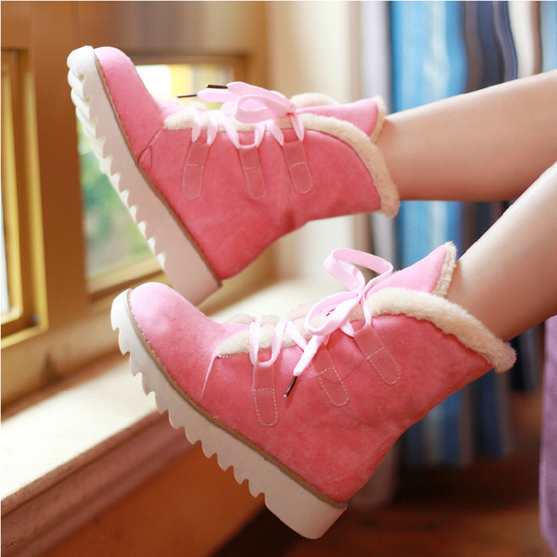 2017 boots fashion women winter boots flats ladies shoes