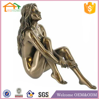 Factory Custom made best home decoration gift resin polyresin topless nake