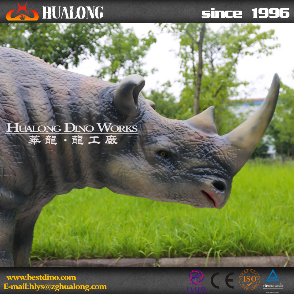 Outdoor Playground High Quality Life Size Rhinoceros Statue