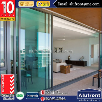 Europe style design heavy duty powder coated architectural aluminum sliding doors interior and exterior