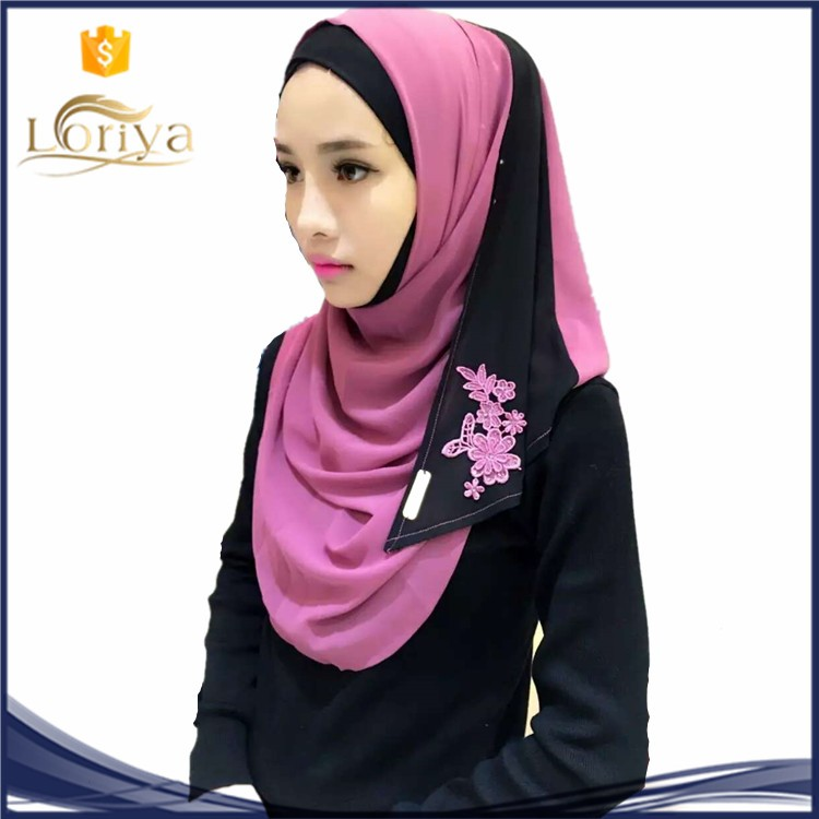 hot sale nice printing hijab arab girl white in 2016