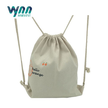 Small Cotton Drawstring Bag, Cotton Backpack Bag