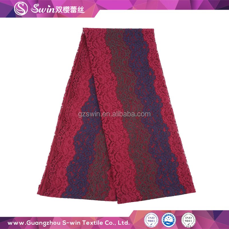 Lace <strong>Fabrics</strong> High Quality Multi Color Eyelash <strong>Hole</strong> For Polyester <strong>Fabric</strong> Price Per Meter