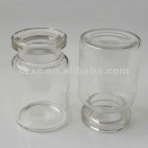 tubular type II glass vial bottle for steriods/glass vial and butyl rubber stopper