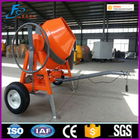 500L portable manual concrete mixer powered diesel motor