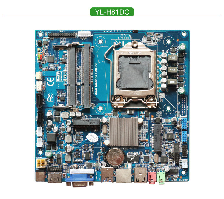 Haswell H81 Thin Mini itx embedded mainboard support core i3 i5 i7
