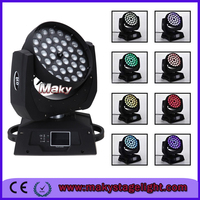 Night Disco lights 4in1 zoom 36ledsx10W RGBW zoom led moving head wash Lighting