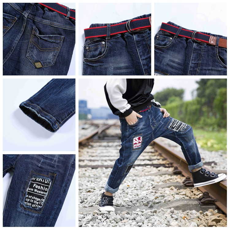 Made In China Simple Style Top Brand Jeans for Boy