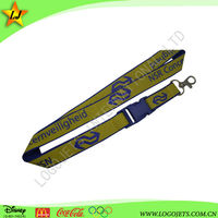High quality yellow polyester lanyard