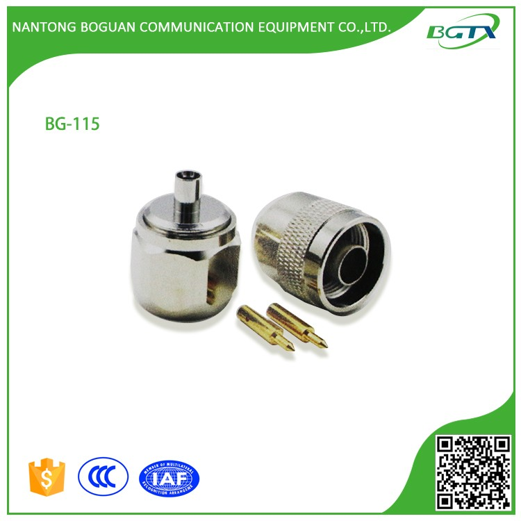High quality N plug RF connector adapter for RG402 cable