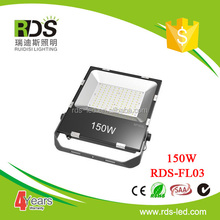 150w New stadium used 120lm/w led flood light for lighting tower