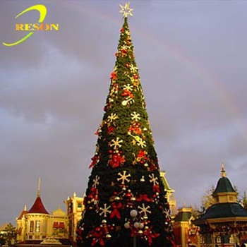 Chinese supplier artificial pre lit christmas trees