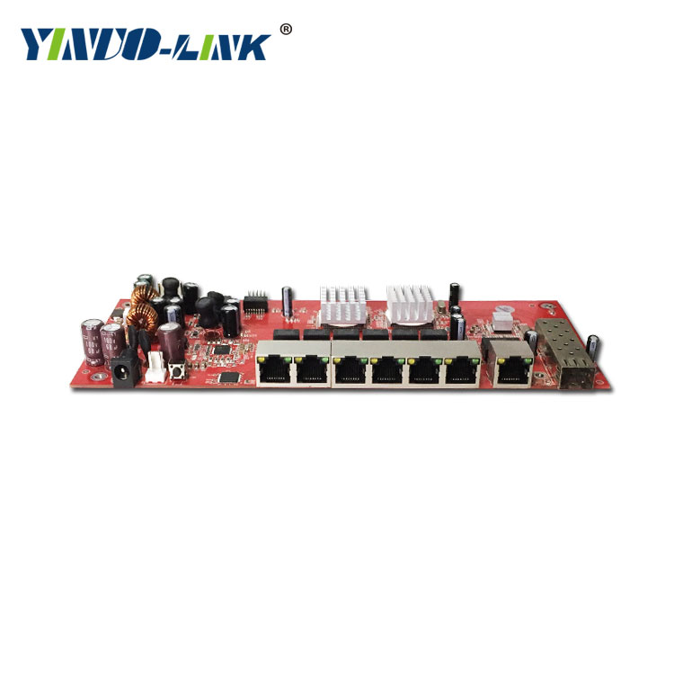 Yinuo-Link embeded 9 port gigibit SFP switch module support AF/AT