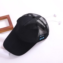 Factory OEM Trucker Hats with Wireless Headset Bluetooth Earphone Mesh Hats