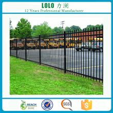 Prefab Antique Heavy Duty Steel Wrought Iron Fence Panels For Parking Lot