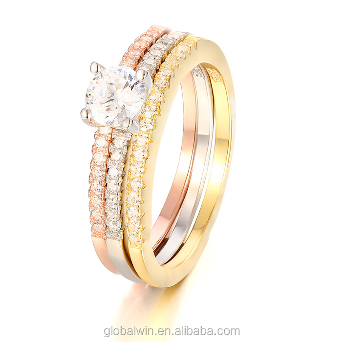 FR029B Fashion Latest Diamond 14k Gold Finger Weding Ring Jewelry For Women