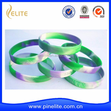 custom made cheap OEM silicone wristband with swirl band for promotion gift
