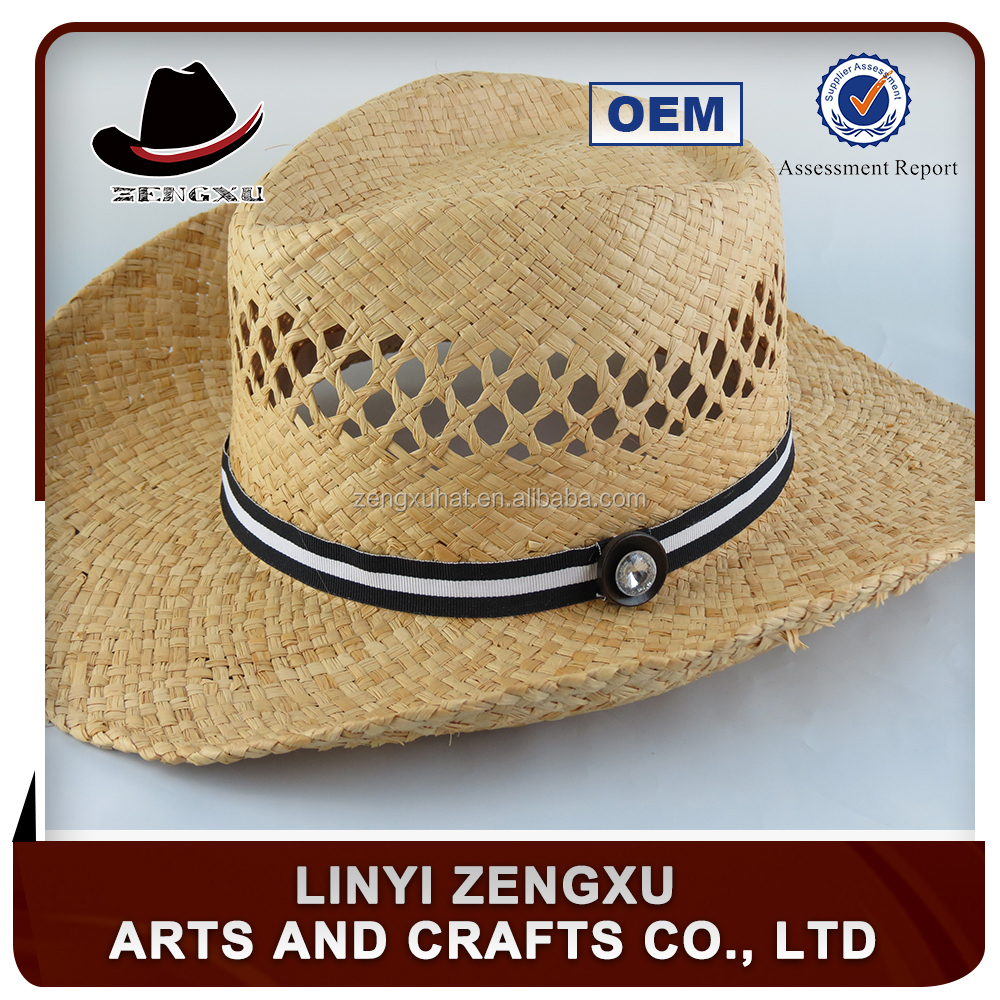 Fashion cowboy paper straw hat cheap