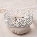 Full round flower tiara with crystal