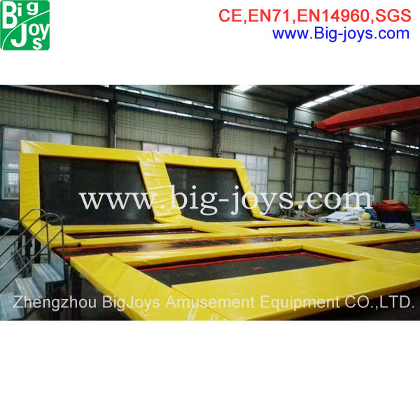 customized trampoline park project amusement indoor trampoline jumping