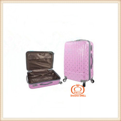 Newest designed style ABS+PC luggage cute little girls travel wheeled cabin