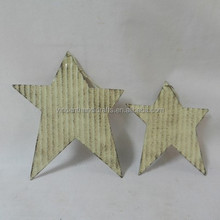 Cast iron metal Christmas stars, white metal barn star for decoration