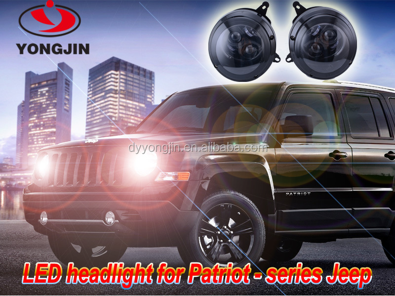 Jeep patriot parts accessories 9-31v 65w*2 with angle eyes led head light for patriot
