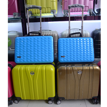 sincere sell Custom made large capacity abs+pc vogue trolley luggage bags